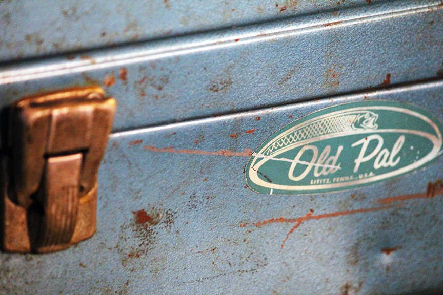 Vintage 1960s Turquoise Old Pal Tackle Box in Excellent Vintage ...