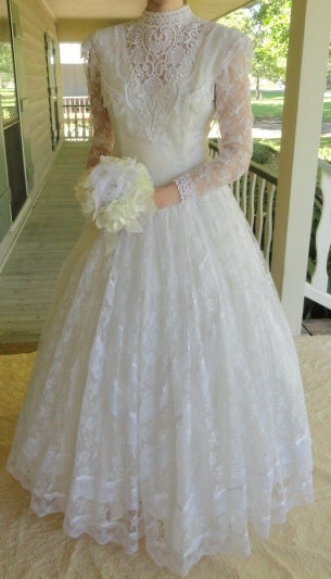 Vintage wedding dress jessica mcclintock 1980s by for Jessica mcclintock wedding dresses outlet
