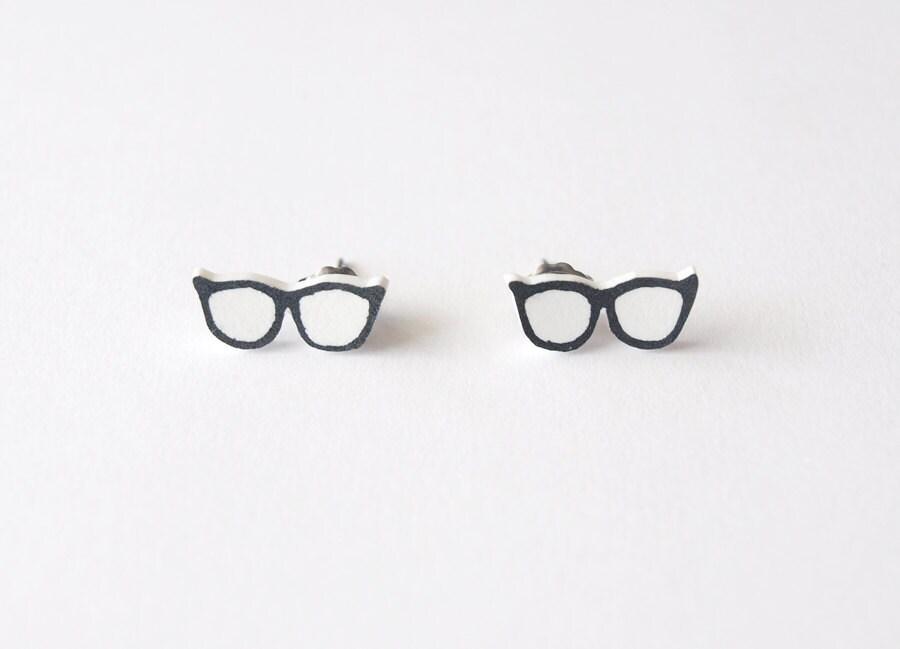 Wayfarer Glasses Stud Earrings - Made To Order