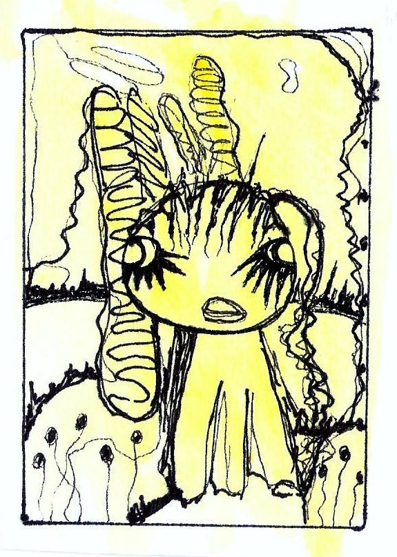 ACEO Original - Tribal Eyes