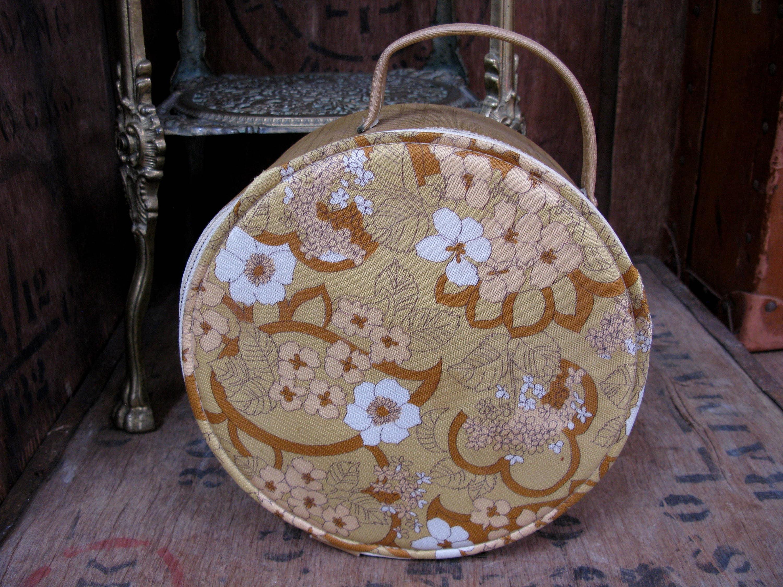 Floral Vanity Case 1960s Vanity Case Vanity Bag Make Up Case Vintage Vanity Case Cosmetics Case Cosmetics Bag Flower Power Kitsch