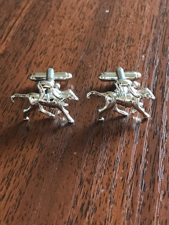 Silver horse cufflinks Horse Racing Cufflinks Horse cufflinks horse horse jewellery jockey horse jockey Grand National equestrian