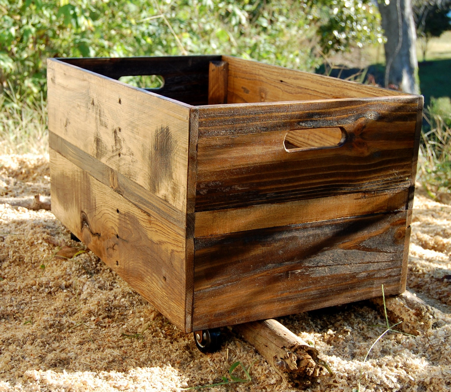 Large Rolling Crate Toy Storage Reclaimed By