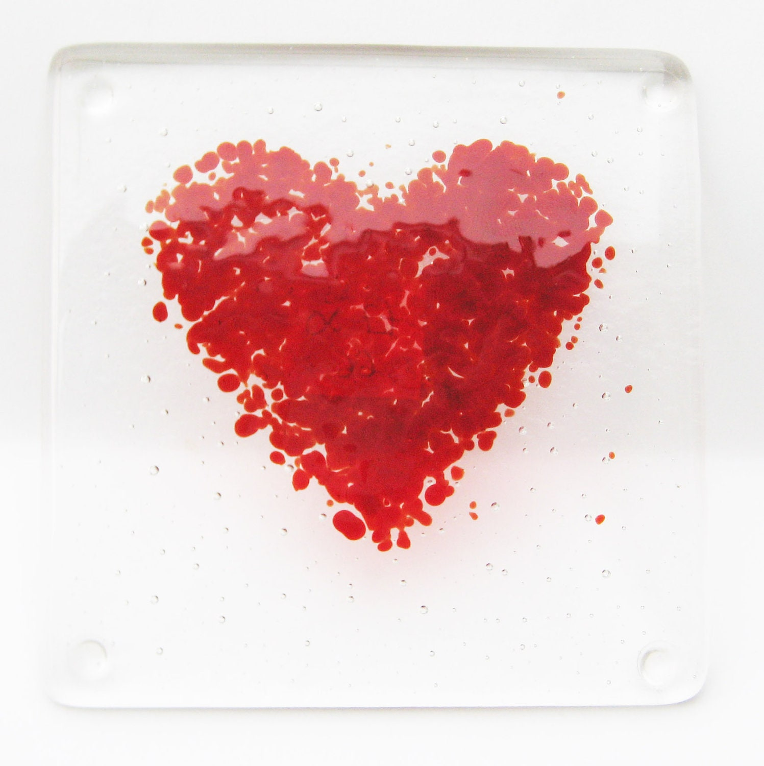 Red Heart Coaster - micpru