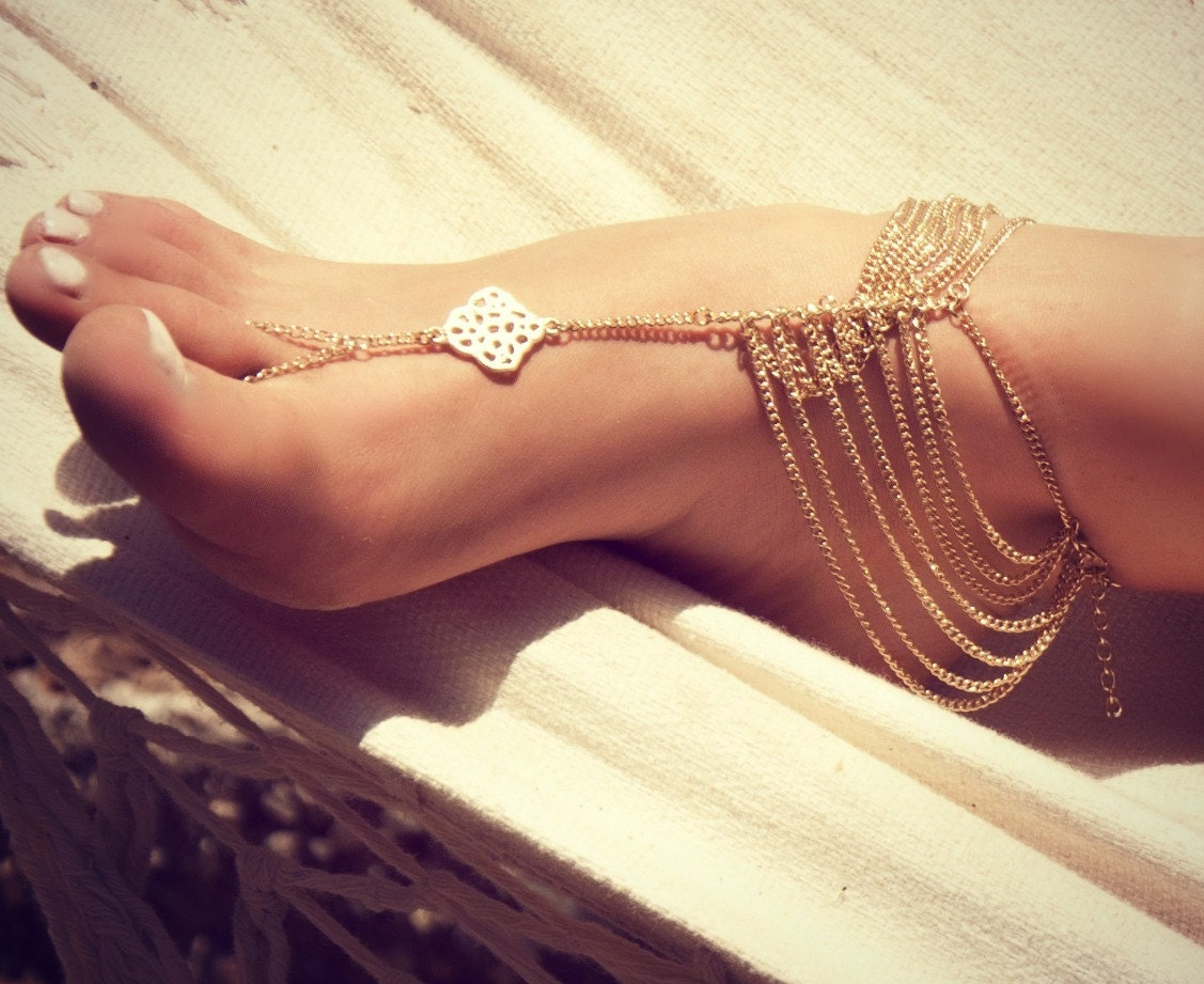 KATY ANKLET- gold chain foot anklet available in gold - LovMely
