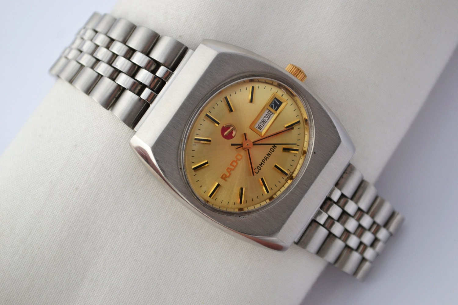 Vintage Rado Companion Stainless Steel Automatic Mens Watch 890   Make me an offer!