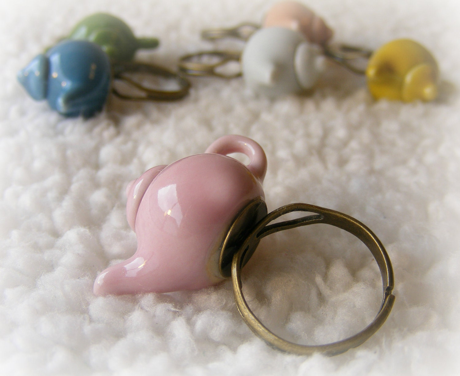Rings Tea Pot  Collectible Miniatures (Your choice of color)