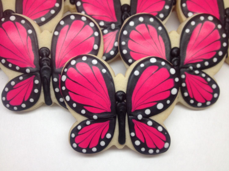 Sweettweets Pink Butterfly Cookies 1 Dozen By