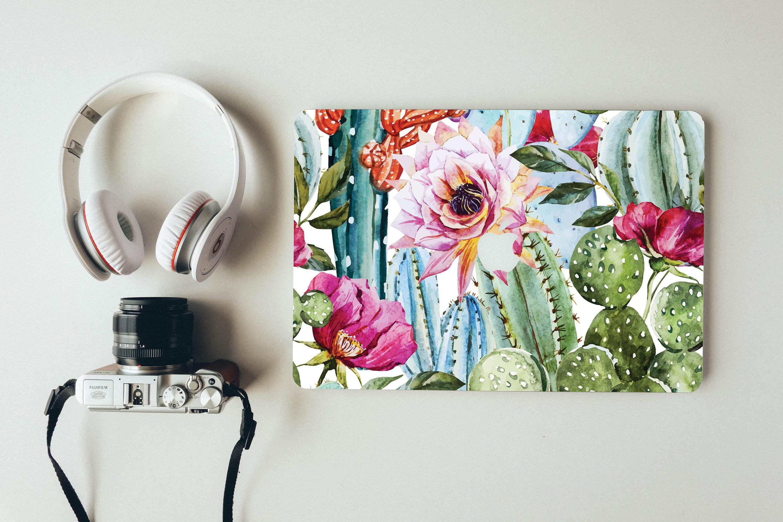 Macbook Air Stickers Cactus Flowers  Macbook Pro Skin Macbook Air Decals  Macbook Air Skins Mac Pro 13 Skin Macbook Pro 15 Vinyl