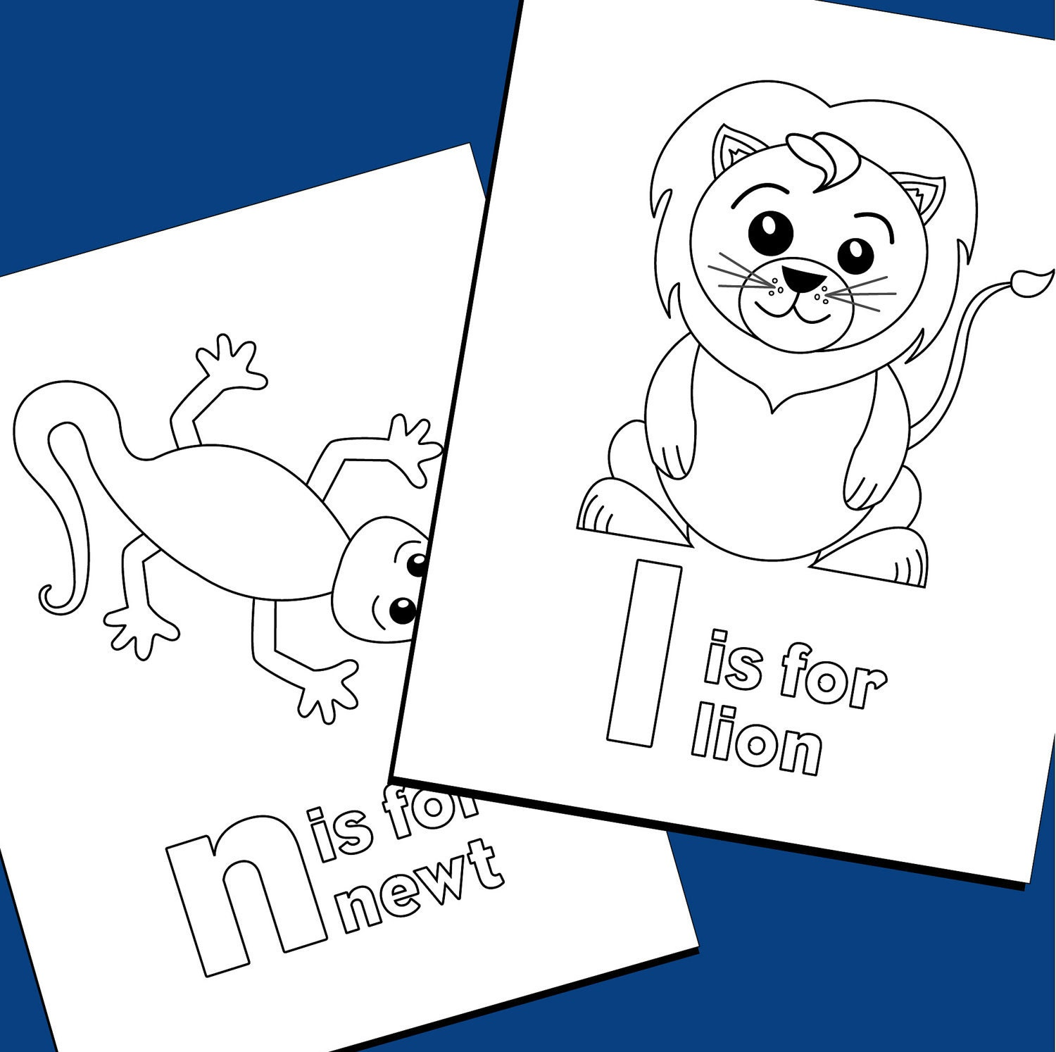 Alphabet Coloring Pages Pdf : Colouring pages alphabet zoo by triciapiasecki on