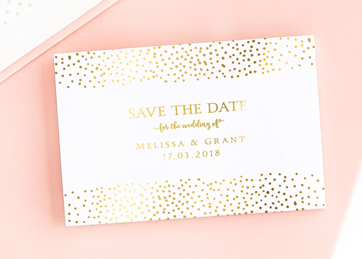 Darling Diamond Save the DateWedding Announcement Cards