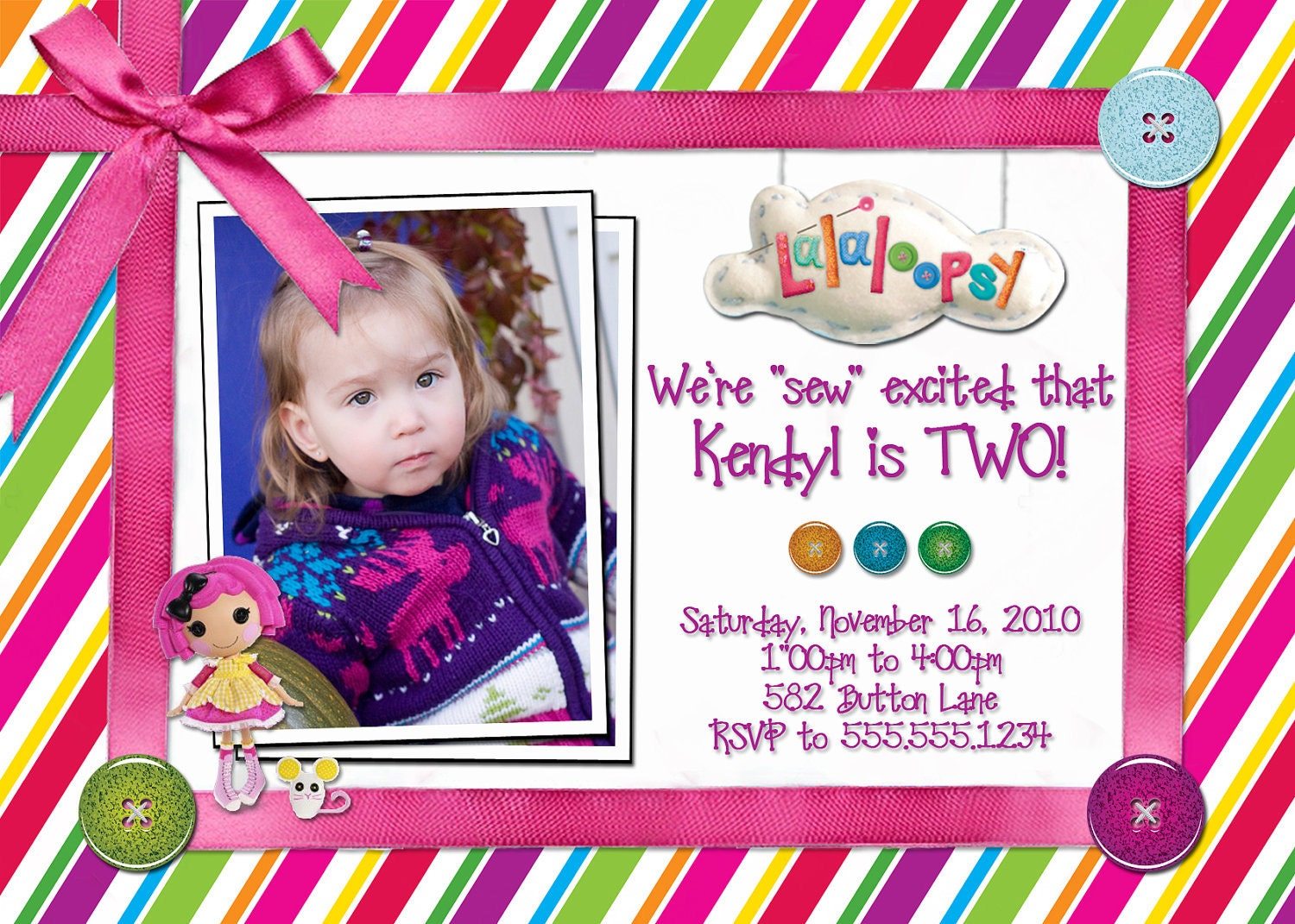 Lalaloopsy Birthday Invitations Printable