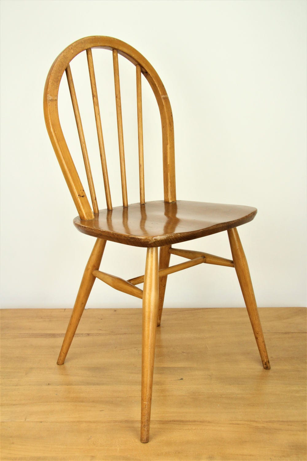 4 original vintage ercol windsor chairs