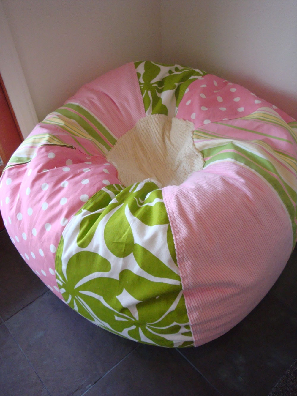 Girls Pink Bean Bag Chair