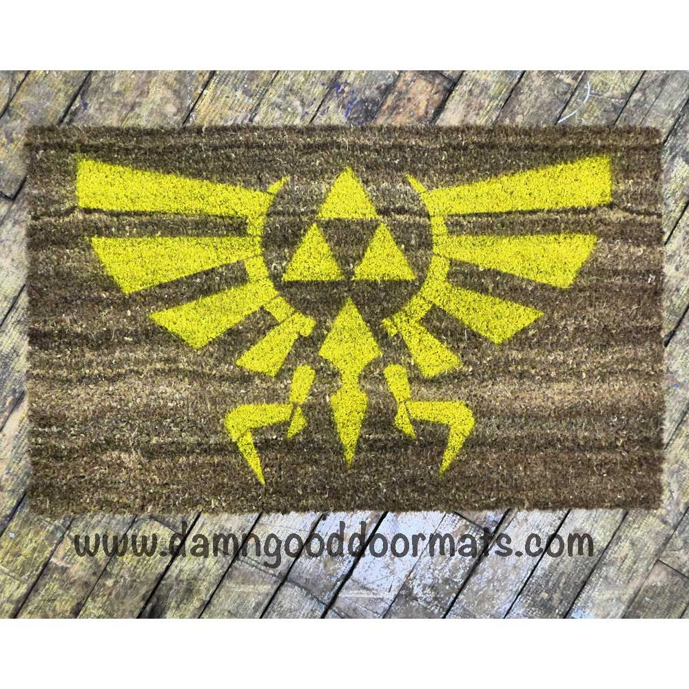 Logo legend of zelda doormat novelty geek by damngooddoormats - Geeky doormats ...