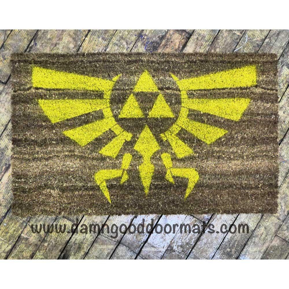 Logo legend of zelda doormat novelty geek by damngooddoormats - Geeky doormats ...
