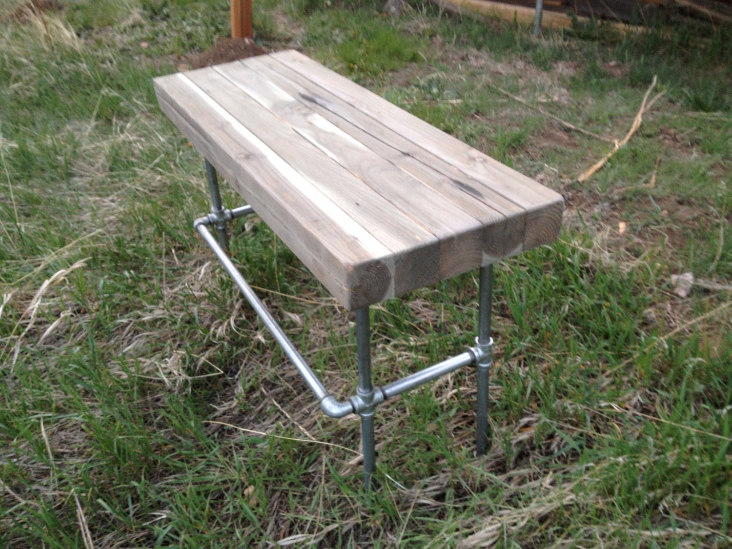 items similar to industrial iron pipe desk steunk