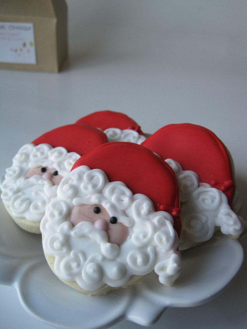 SANTA Klaus sugar cookies - 1 dozen