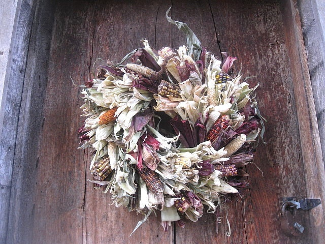 Special order reserved for jane indian corn husk wreath for autumn
