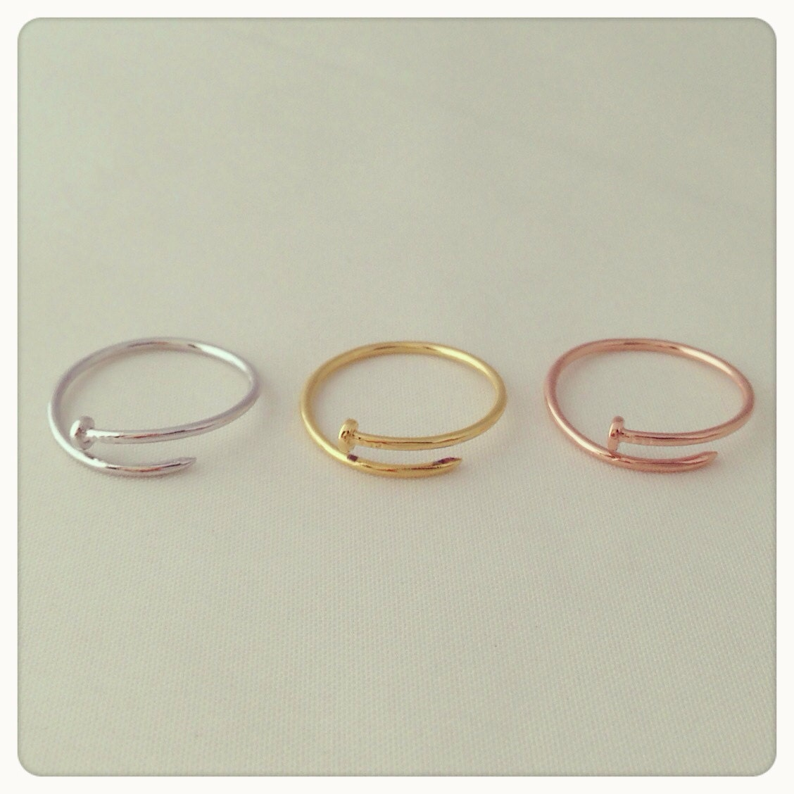 simple nail ring adorable pretty lovely everyday by imsmi