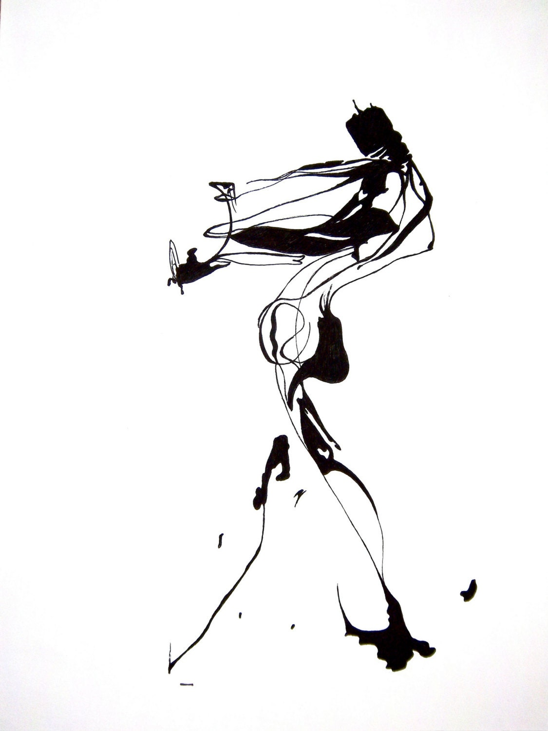 Line Drawing Human Figure : Abstract human figure ink drawing inspiration pinterest