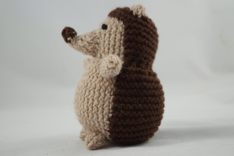 hedgehog soft toy hand knitted crochet handmade cute cuddly photo prop new baby gift baby shower stuffed animal for kids Montessori Waldorf