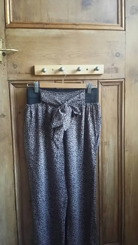 UK seller leopard print festival trousers animal print womens harems ladies vintage harem pants womens yoga pants casual Dolly Topsy Etsy UK