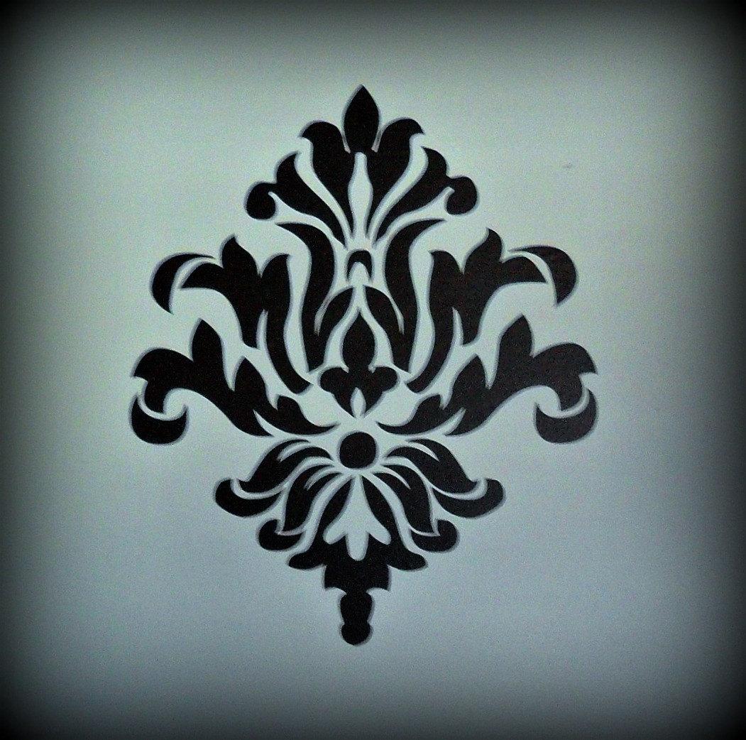 Как сделать трафарет орнамента для мебели