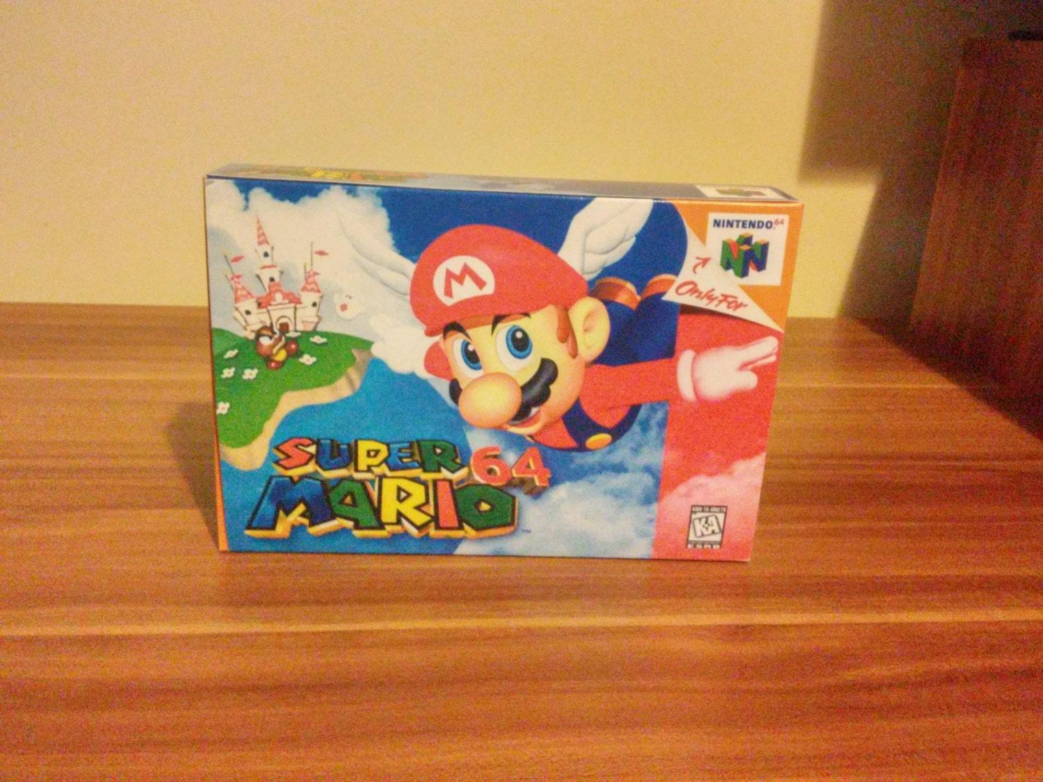 N64 Super Mario 64  Repro Box and Insert NO Game Included