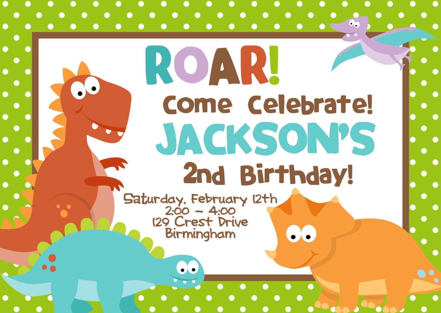 Dinosaur birthday invitation template filmwisefo