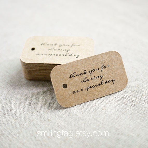 Wedding Gift TagsWedding Favor TagsThank YouGift Tags Saying Thank You