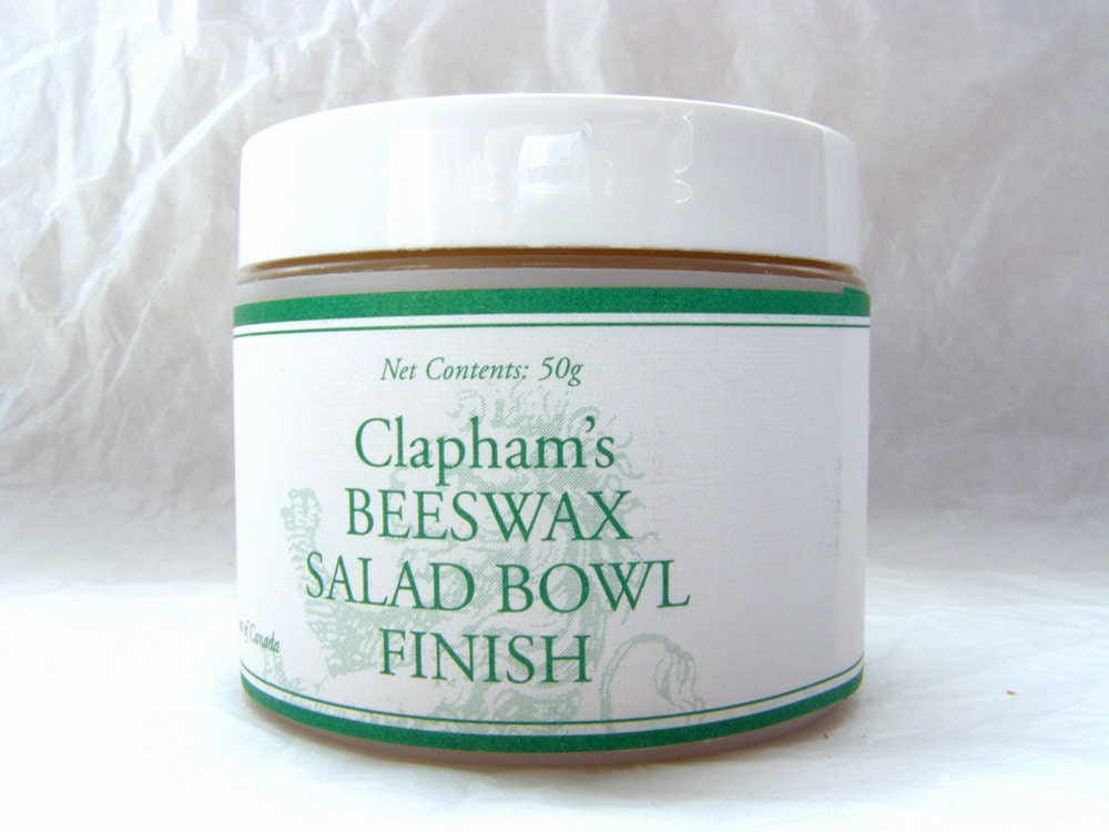 Clapham S Beeswax Salad Bowl Finish 50 Gram Jar By