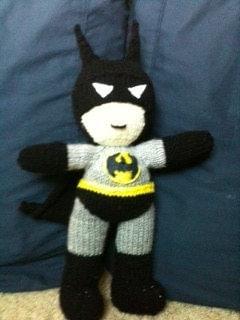 Batman knit doll child toy by CarlaVeil on Etsy
