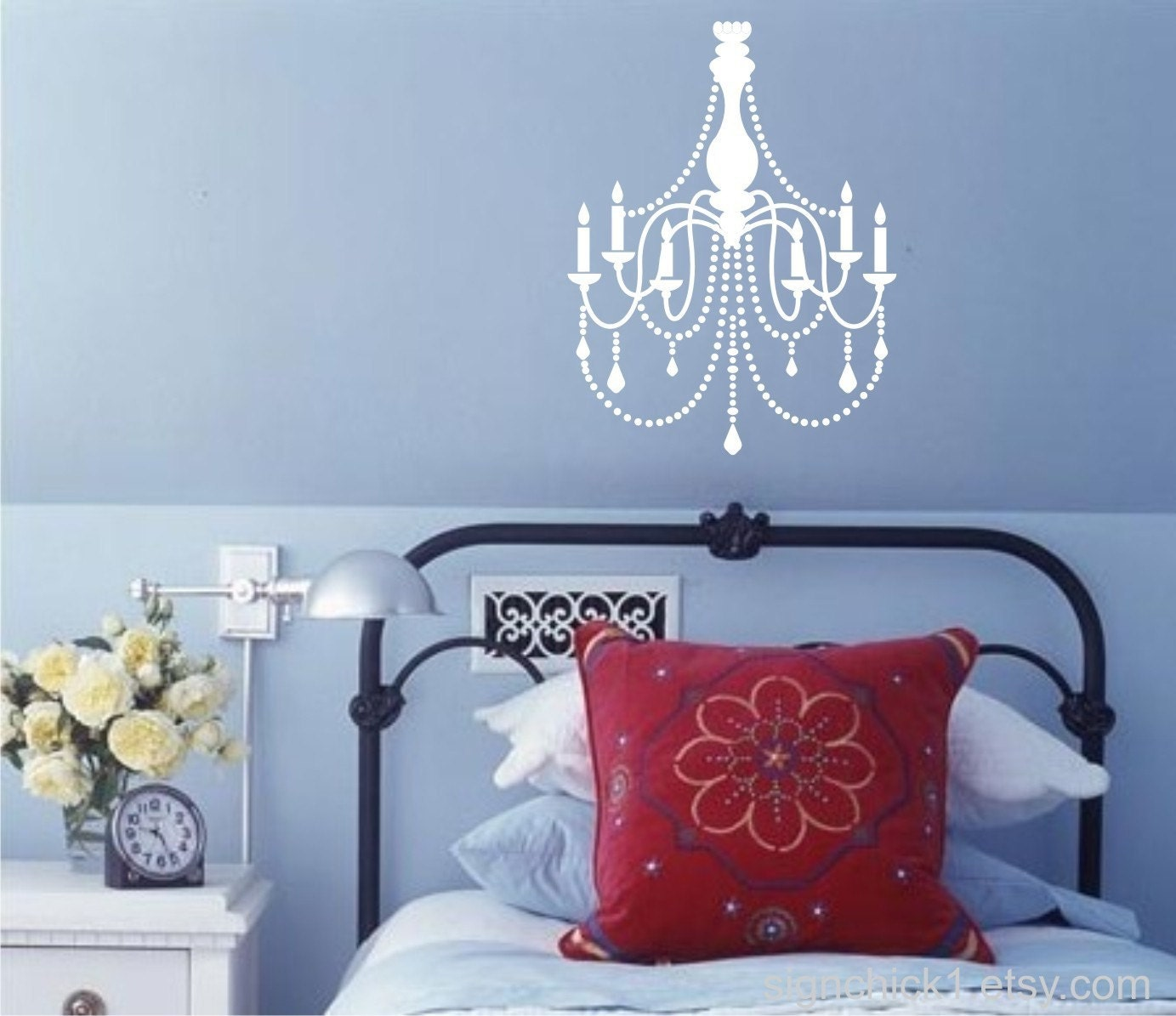 Chandelier Wall Decal dorm room decor by FairyDustDecals  ~ 170956_Etsy Dorm Room Ideas