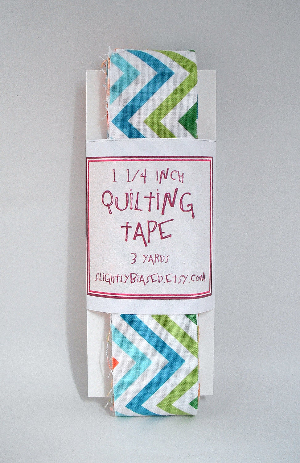 Quilt Binding - Remix Chevron in Bright Handmade Quilting Tape, 3 Yards