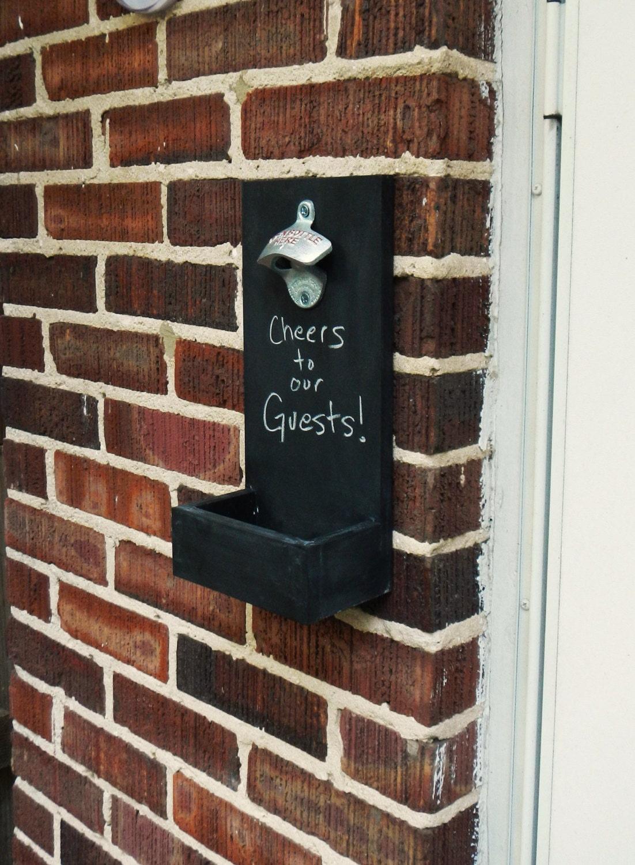 Chalkboard Wall Mounted Bottle Openers With By