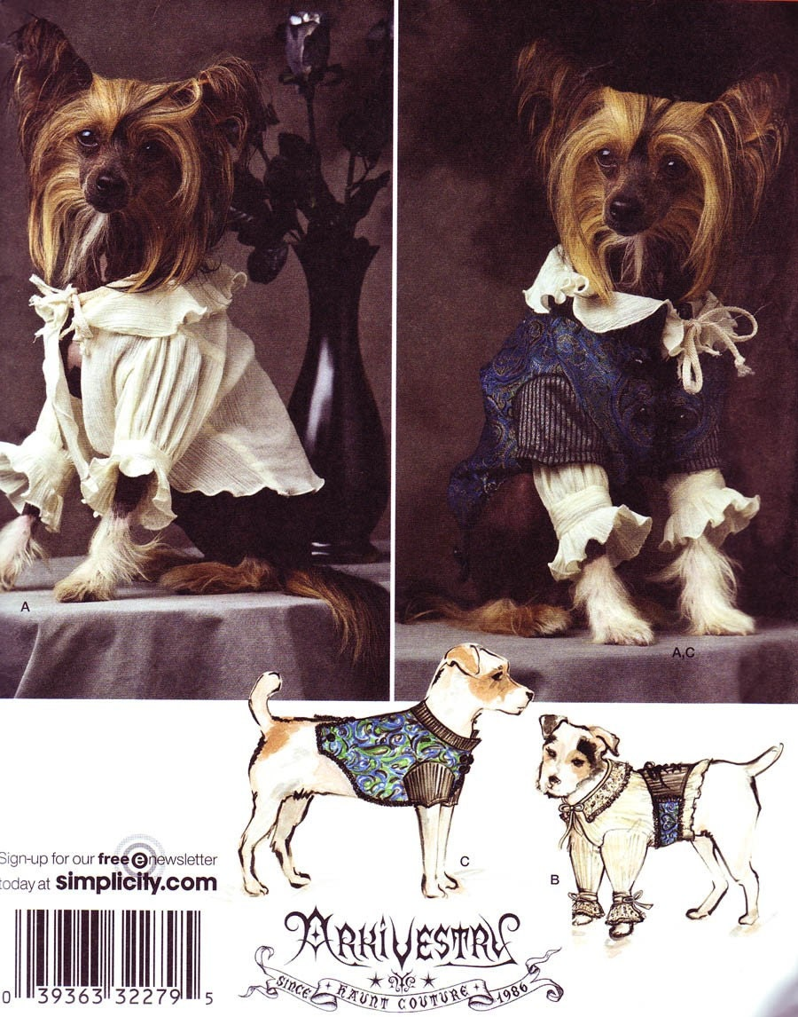 Simplicity 2759 sewing pattern dog costume by zedola56 on etsy