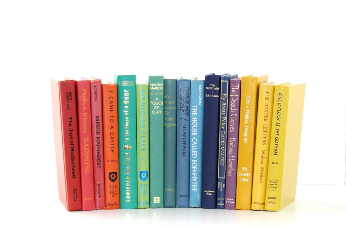 Library Filler Colorful 16 Book Collection Interior Design