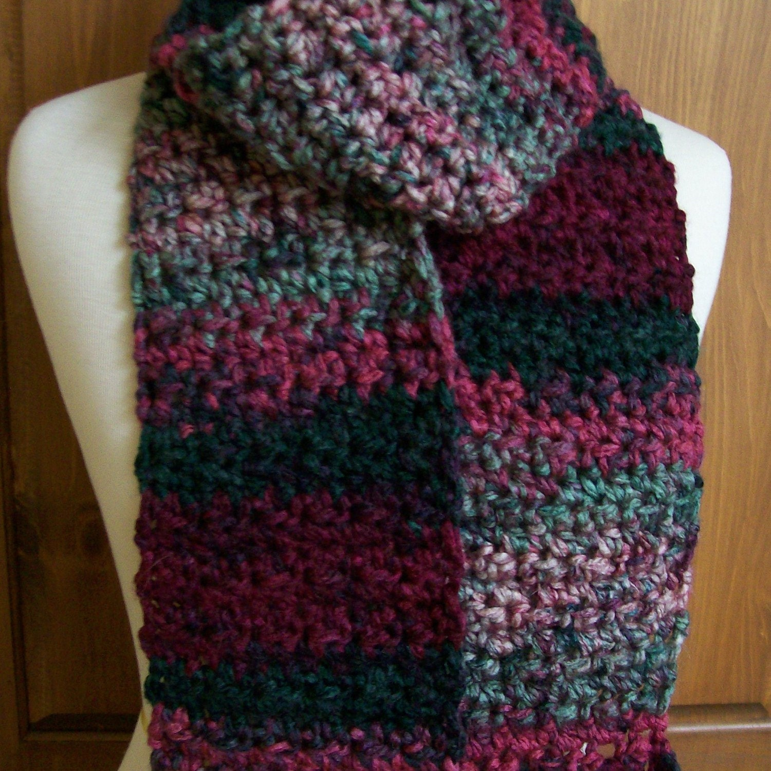 Items Similar To Holiday Colors Charisma Yarn Scarf On Etsy