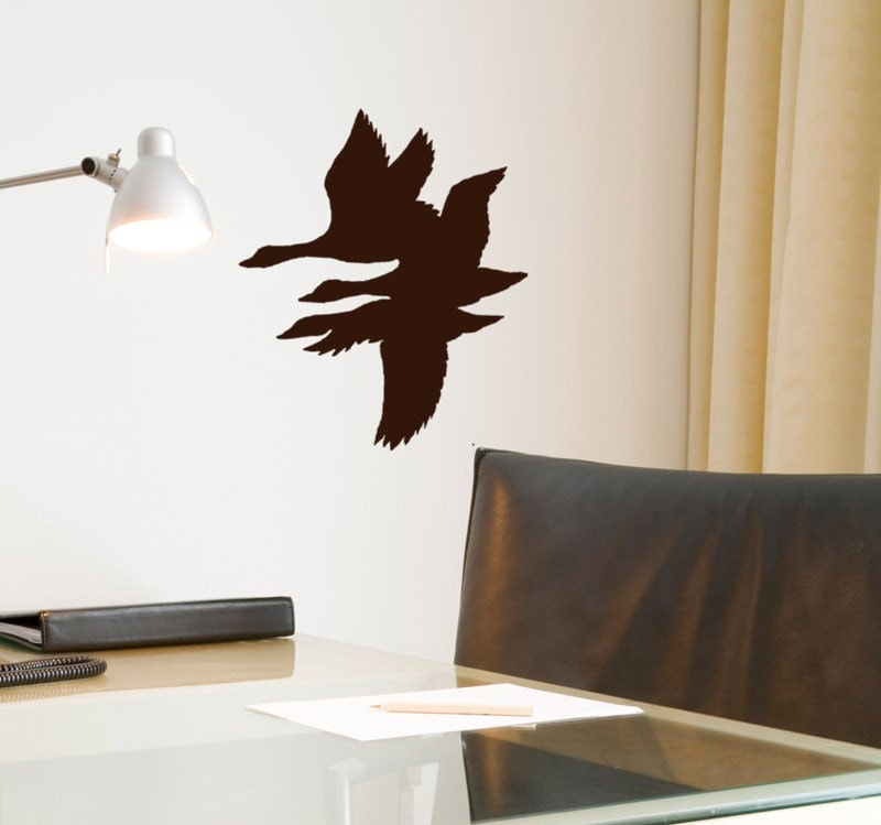 flying duck wall decal hunting decor lodge by householdwords