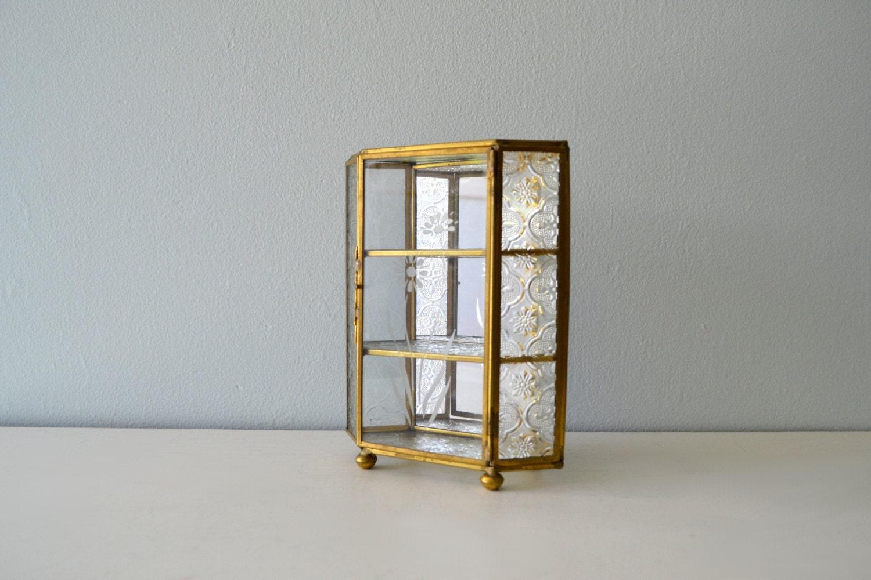 vintage curio display box shelving storage unit by. Black Bedroom Furniture Sets. Home Design Ideas