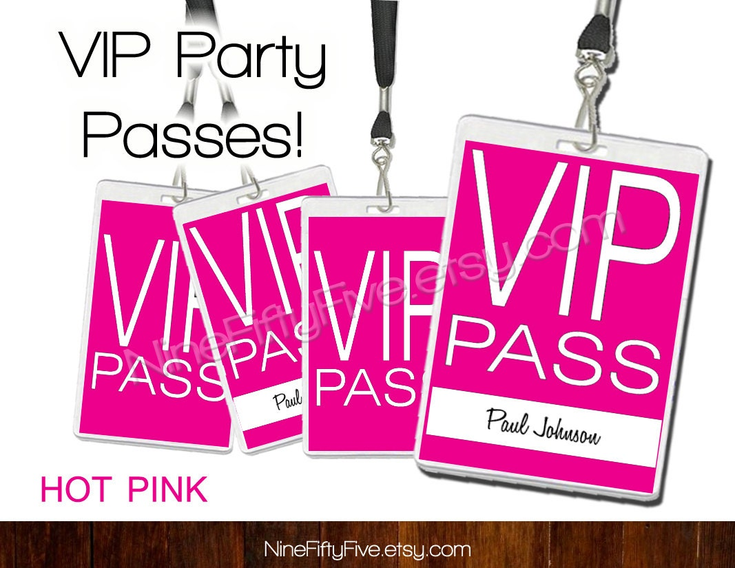 vip pass invitation template