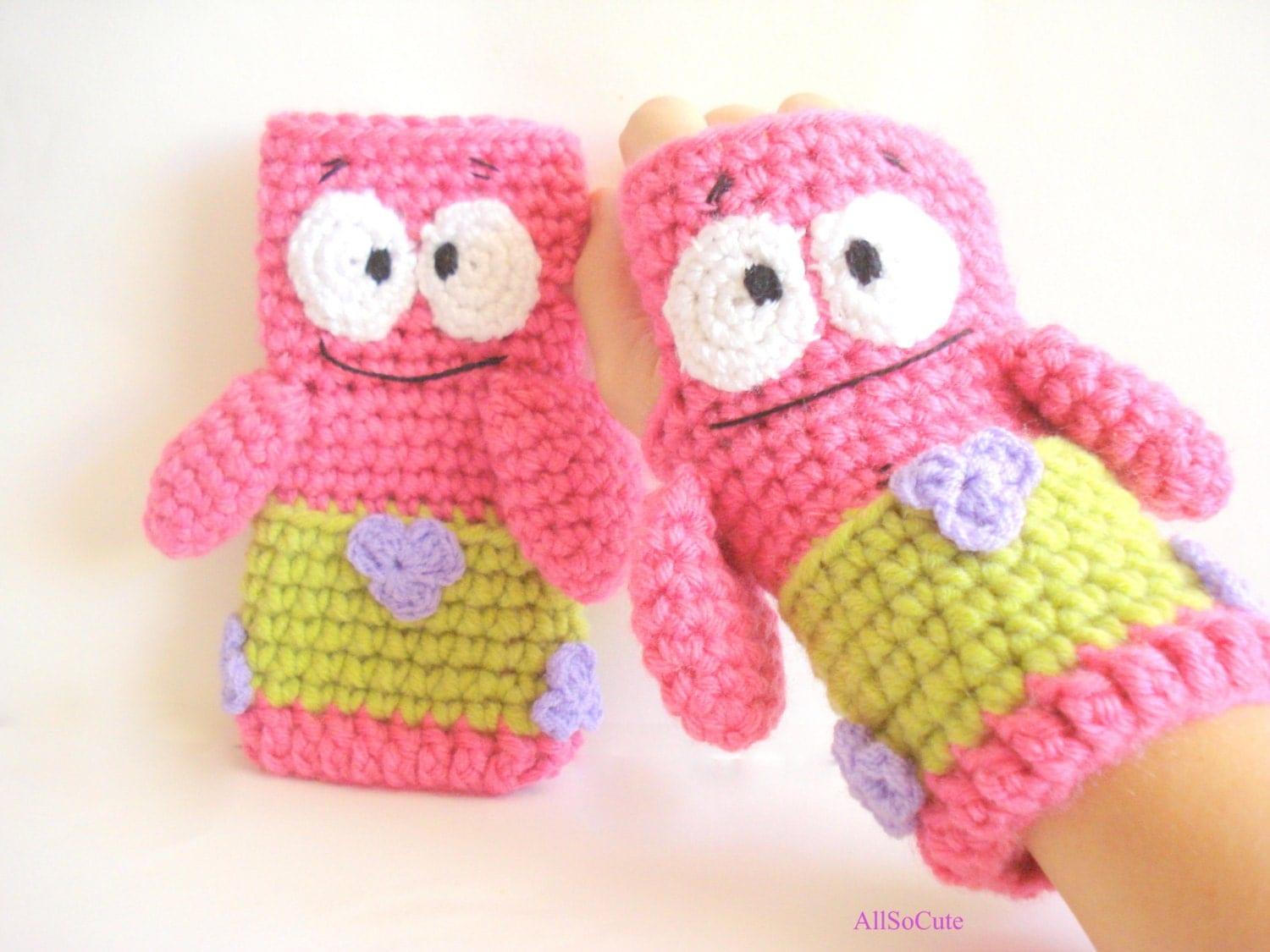Free Crochet Pattern Patrick Star : Patrick Star Gloves Crochet Pattern Gloves Pattern by ...