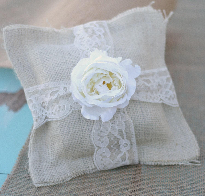 Items Similar To Rustic Wedding Ring Bearer Pillow AND Flower Girl Basket Item E10053 On Etsy