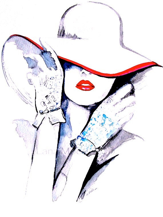 "Fashion Illustration Print 8.5""x11"" from Original Illustration - LanasArt"