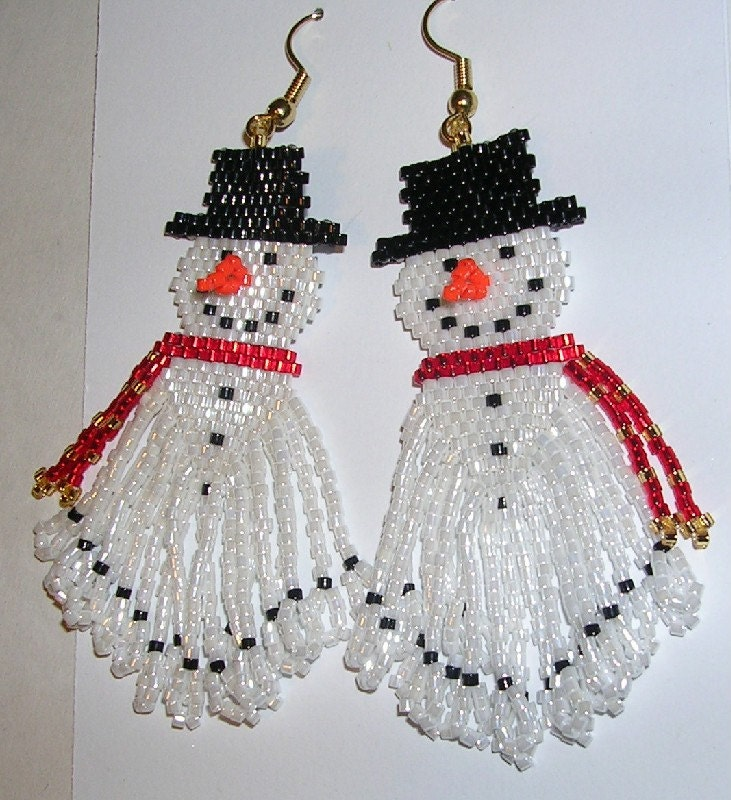 Frosty the Snowman Earrings