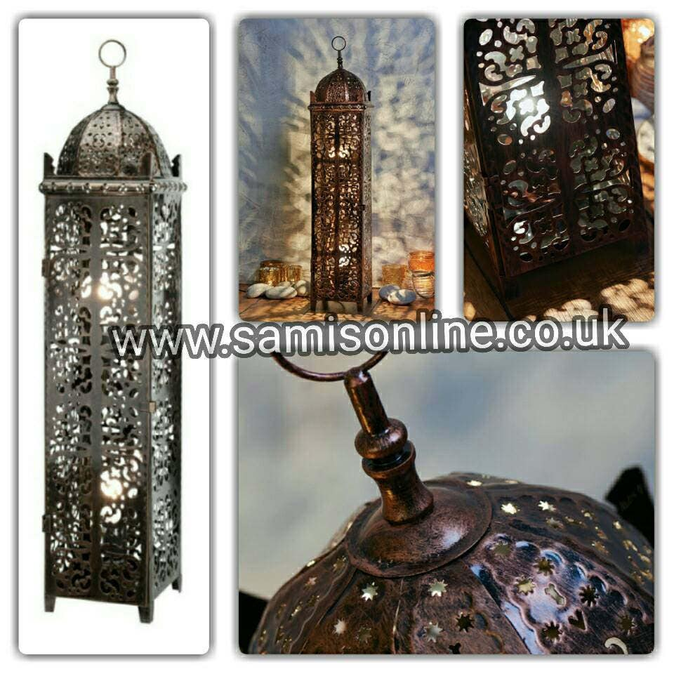 Antique Arabian Moroccan Islamic Style Floor Lamp Vintage Ornate Traditional Art Deco Light Shade Electric