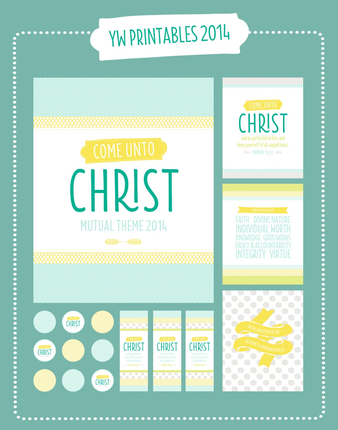 Items similar to 2014 LDS Young Women's Mutual Theme Printable Package ...