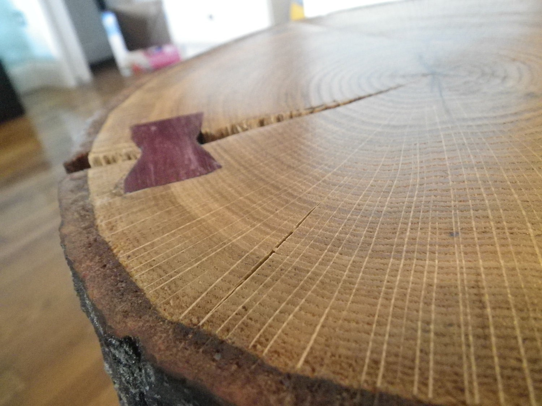 Items Similar To Stump Oak Coffee Table On Etsy