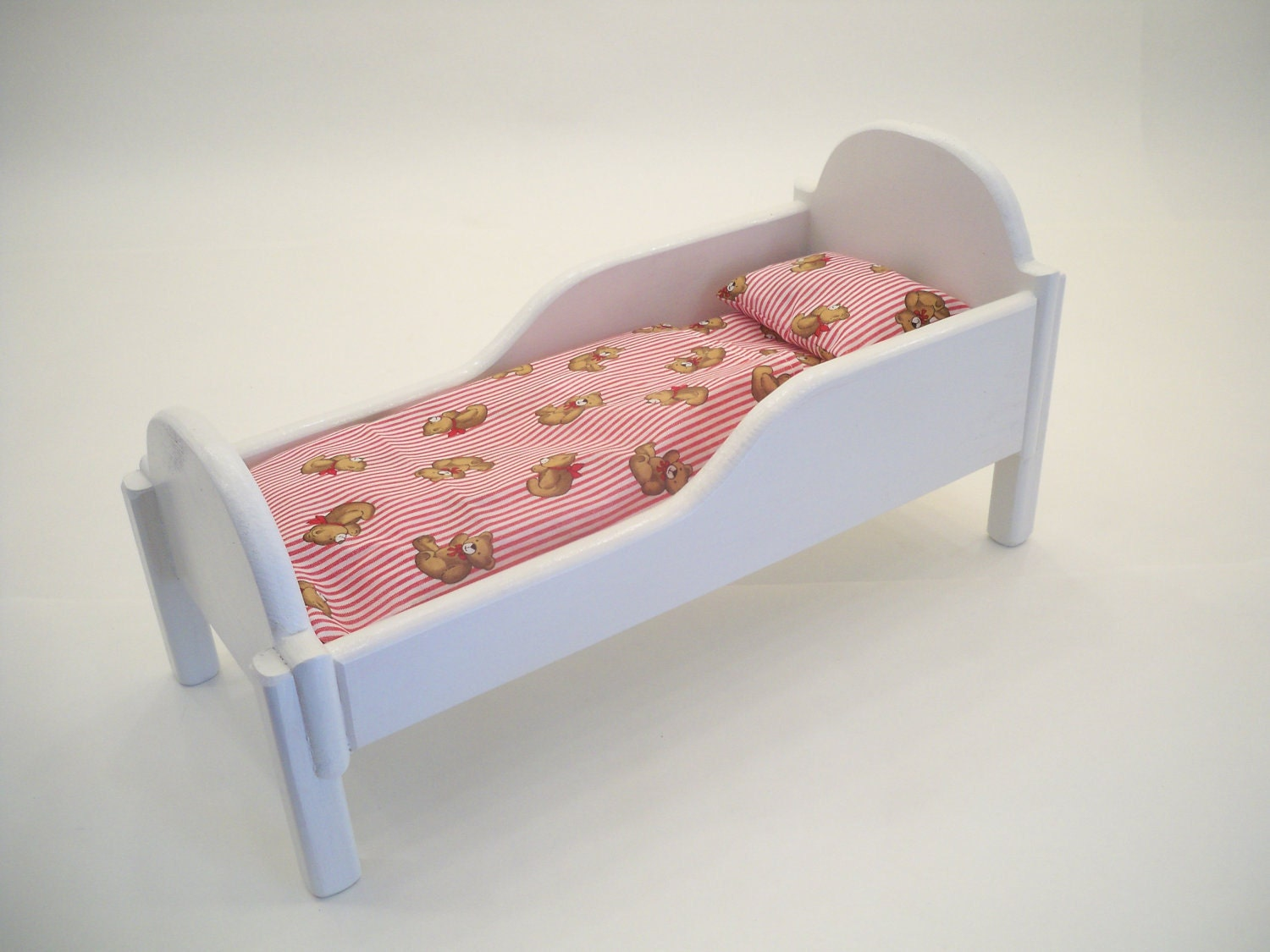 Wood Doll Bed Doll Furniture Doll Bed By Hummelcreations